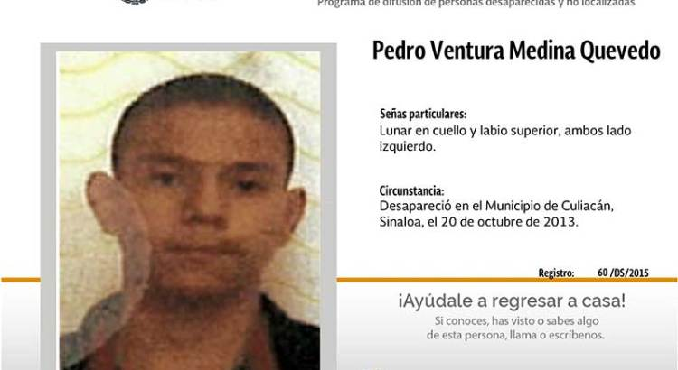 ¿Has visto a Pedro Ventura Medina Quevedo?
