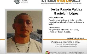 ¿Has visto a Jesús Ramón Valdés Gastelum López?