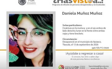 ¿Has visto a Daniela Muñoz Muñoz?