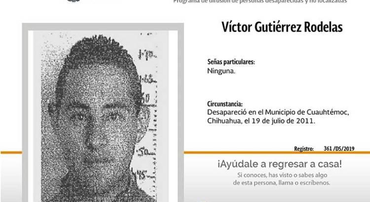 ¿Has visto a Víctor Gutiérrez Rodelas?