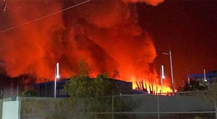Consumió el fuego humilde vivienda en Las Palmas