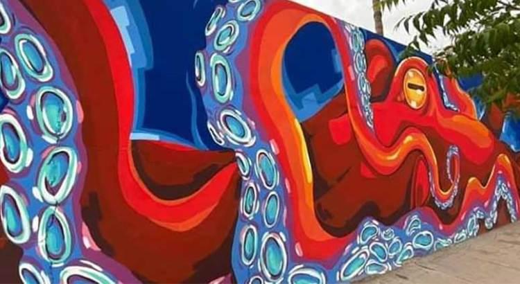 """Con 140 murales cierra el año """"Ciudad Marina"""""""
