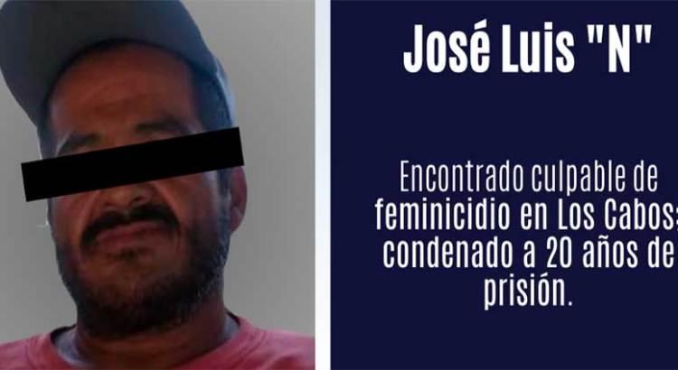Dan  20 años de prisión  a feminicida