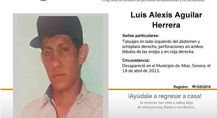 ¿Has visto a Luis Alexis Aguilar Herrera ?