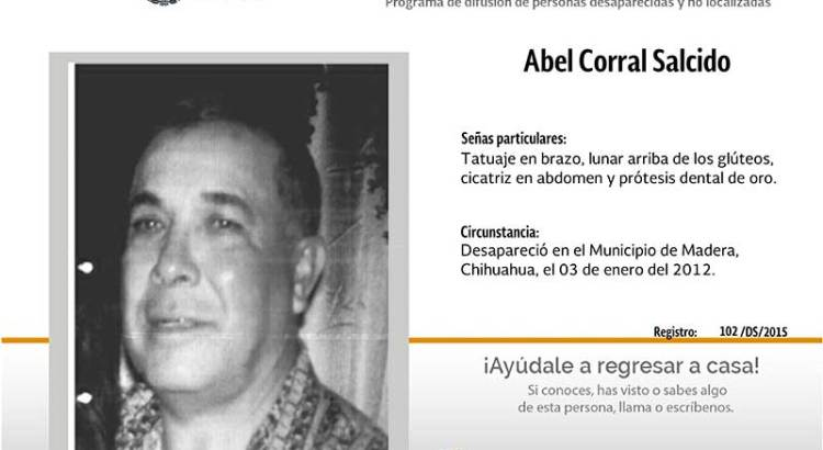 ¿Has visto a Abel Corral Salcido?