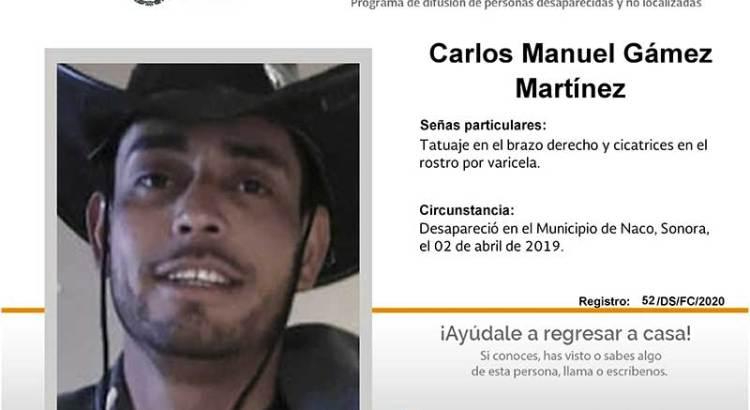 ¿Has visto a Carlos Manuel Gámez Martínez?