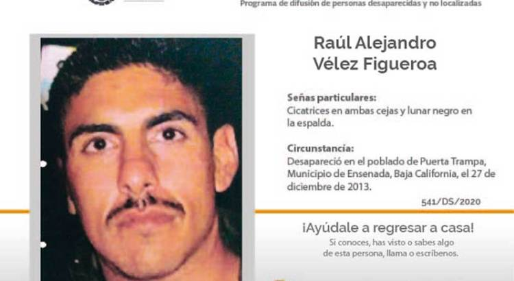 ¿Has visto a Raúl Alejandro Vélez Figueroa ?