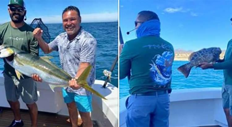 De pesca Oscar de la Hoya en Los Cabos