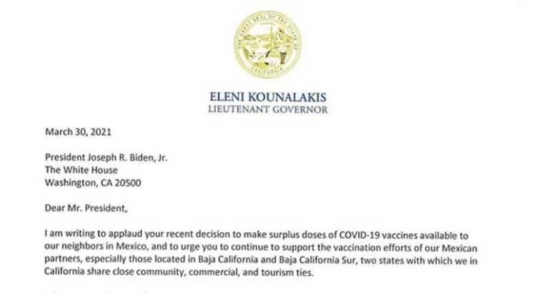Pide el gobernador Mendoza apoyo a EU con vacunas covid19