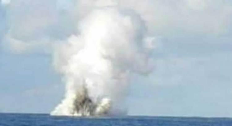Falsa la imagen de fumarola saliendo de aguas de Santa Rosalía