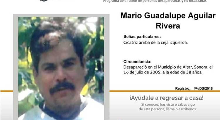 ¿Has visto a Mario Guadalupe Aguilar Rivera?