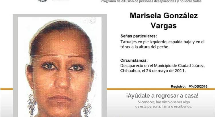 ¿Has visto a Marisela Gonzaělez Vargas?