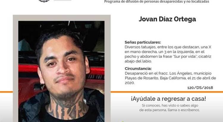 ¿Has visto a Jovan Díaz Ortega?