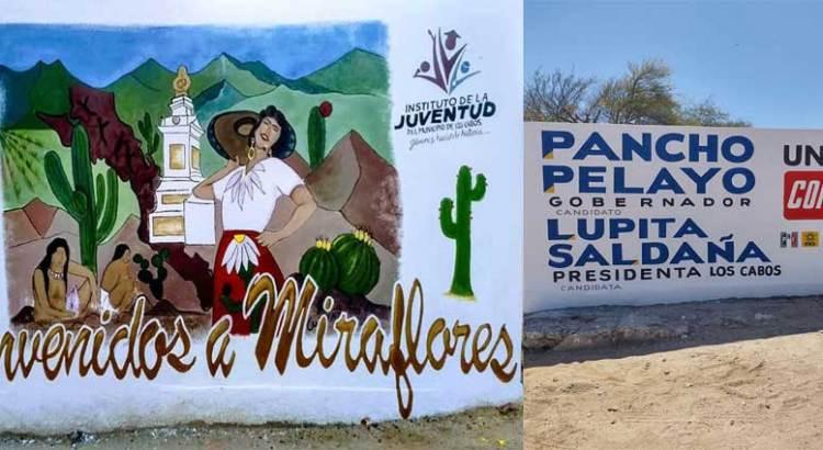 """Cambian mural por pinta de """"Unidos contigo"""""""