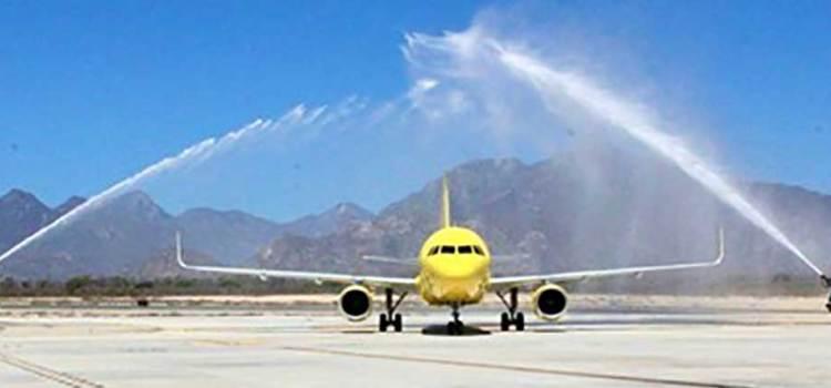Arriba a Los Cabos vuelo inaugural de Spirit