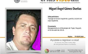 ¿Has visto a Miguel Angel Gómez Dueñas?