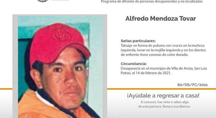 ¿Has visto a Alfredo Mendoza Tovar?