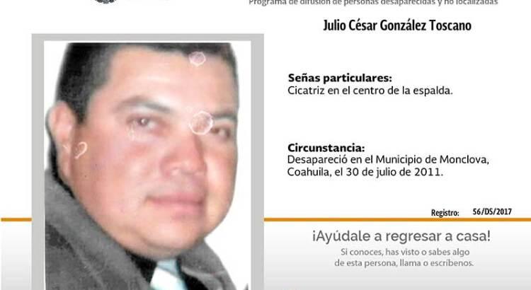 ¿Has visto a Julio Cesár González Toscano?