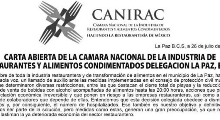 """""""Insostenible"""" la situación para el sector restaurantero"""