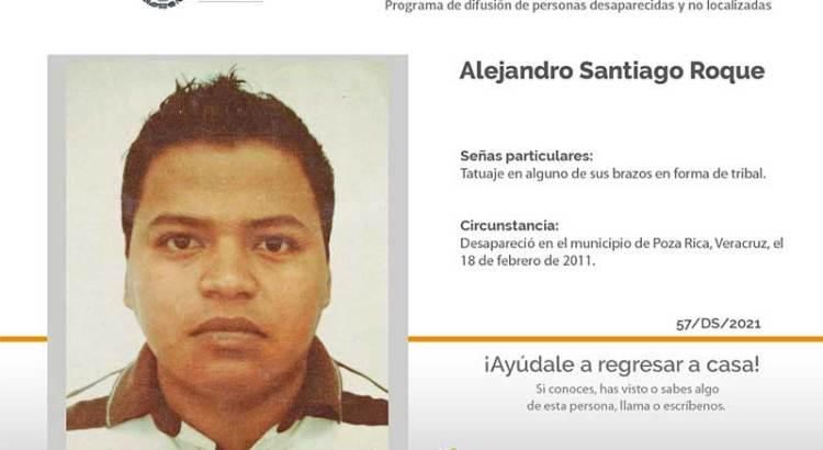 ¿Has visto a Alejandro Santiago Roque?
