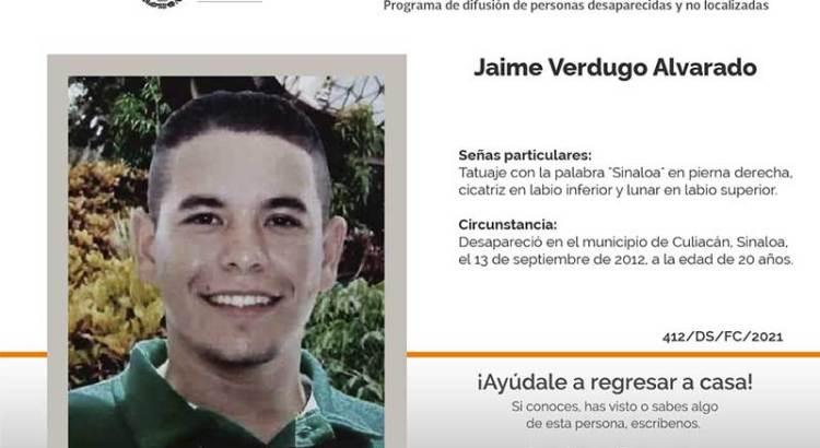 ¿Has visto a Jaime Verdugo Alvarado?