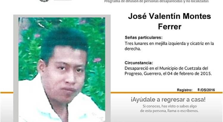 ¿Has visto a José Valentín Montes Ferrer?