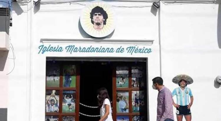 Abren la primera lglesia Maradoniana en Puebla