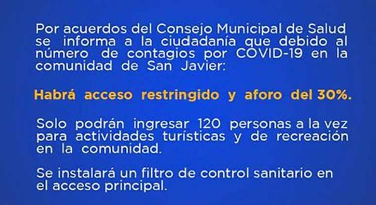 Restringen acceso a San Javier