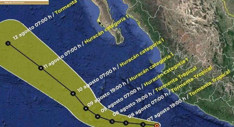 Surge la depresión tropical Once-E