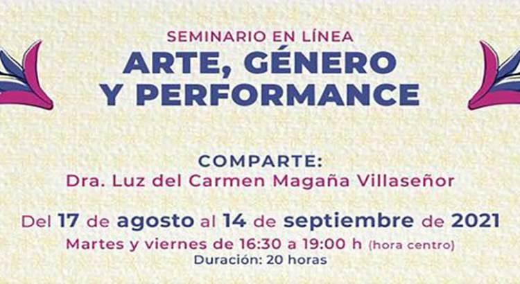 """Intégrate al seminario """"Arte, género y performance"""""""