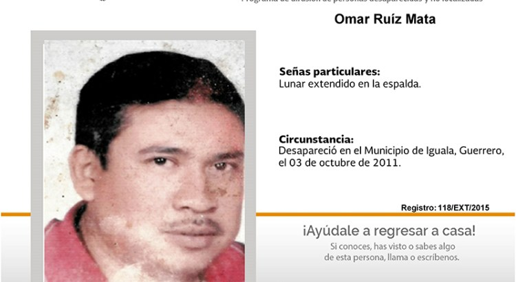 ¿Has visto a Omar Ruíz Mata ?