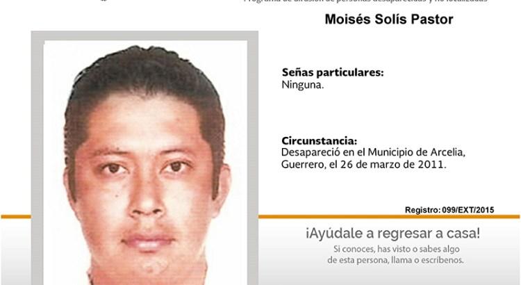 ¿Has visto a Moisés Solís Pastor?