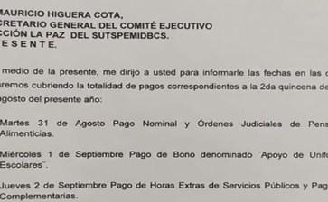 Se comprometió a pagar el Alcalde de La Paz