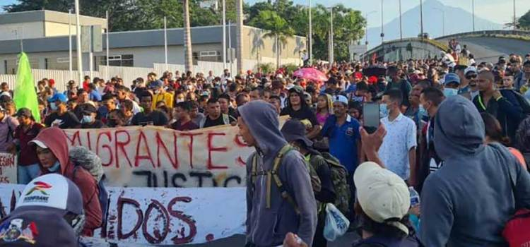 Sale caravana migrante de Chiapas