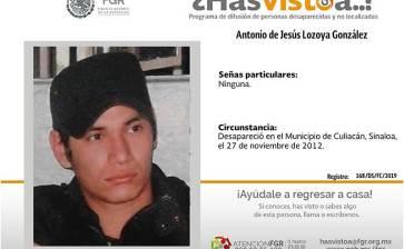 ¿Has visto a Antonio de Jesús Lozoya González ?