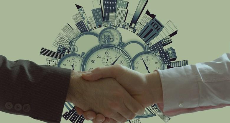 Handshake Clock Buildings Concept  - geralt / Pixabay