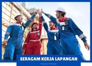 seragam kerja lapangan pertamina