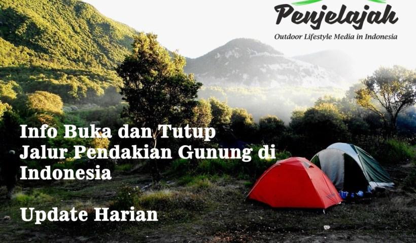 Info buka dan tutup jalur pendakian gunung di Indonesia - update harian