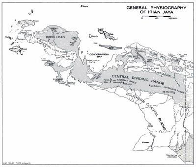 Bentang Pegunungan Sudirman dan Jayawijaya di Papua