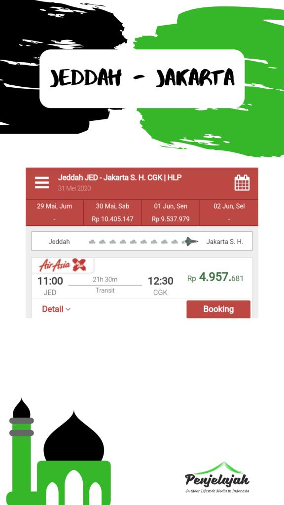 Promo tiket pesawat Jeddah - Jakarta