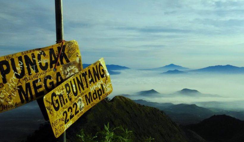 Puncak Mega, Gunung Puntang yang terletak di Kabupaten Bandung
