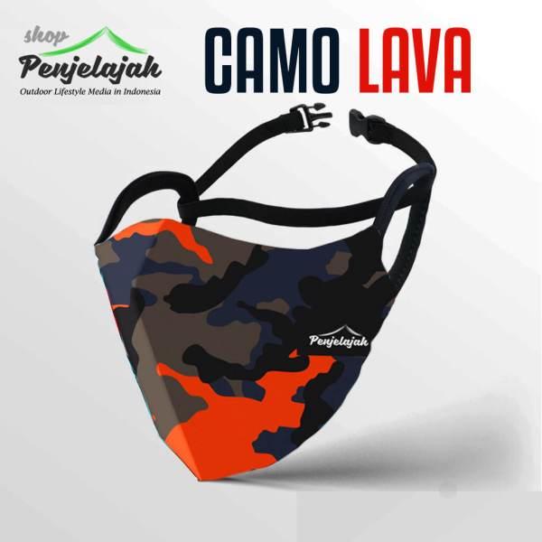 Masker Printing Penjelajah - Camo Lava