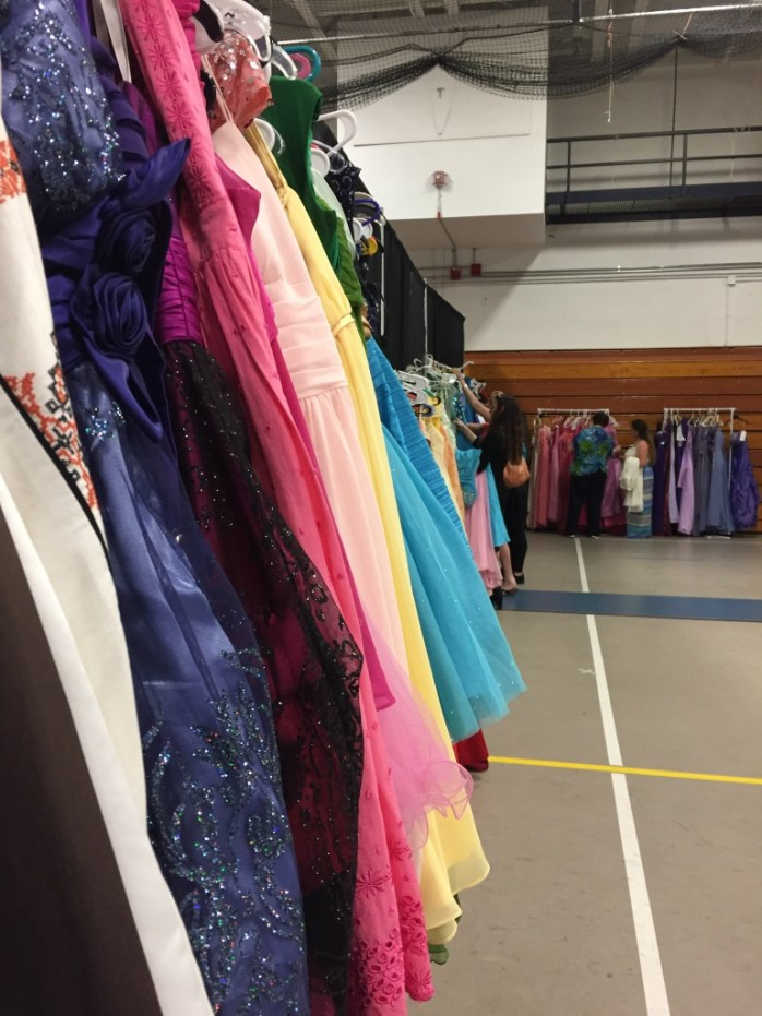 Some of the donated dresses.