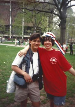 Kiera Reilly and DP Photographer Jeff Hurok, C'94 for Penn 1993 Hey Day in April, 1992