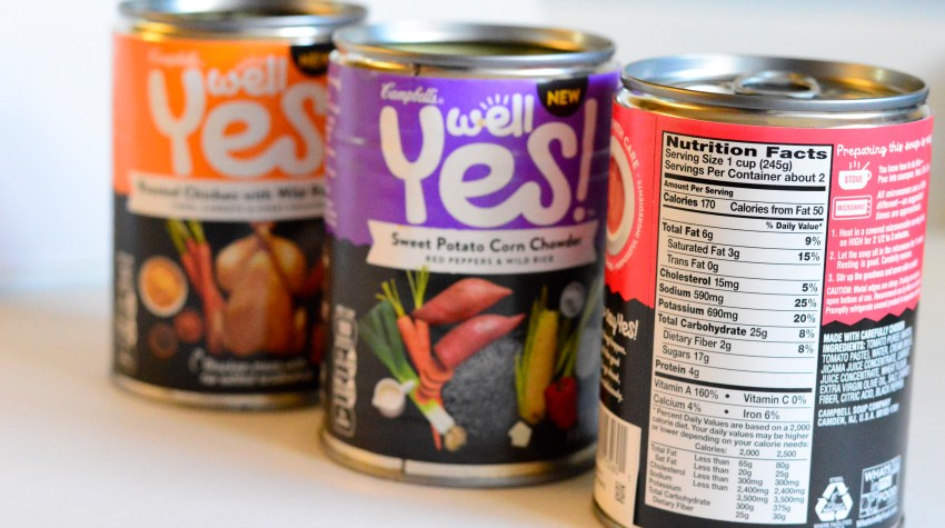 Why and how to do a pantry purge and suggestions like Campbell's Well Yes! Soups to stock the pantry with