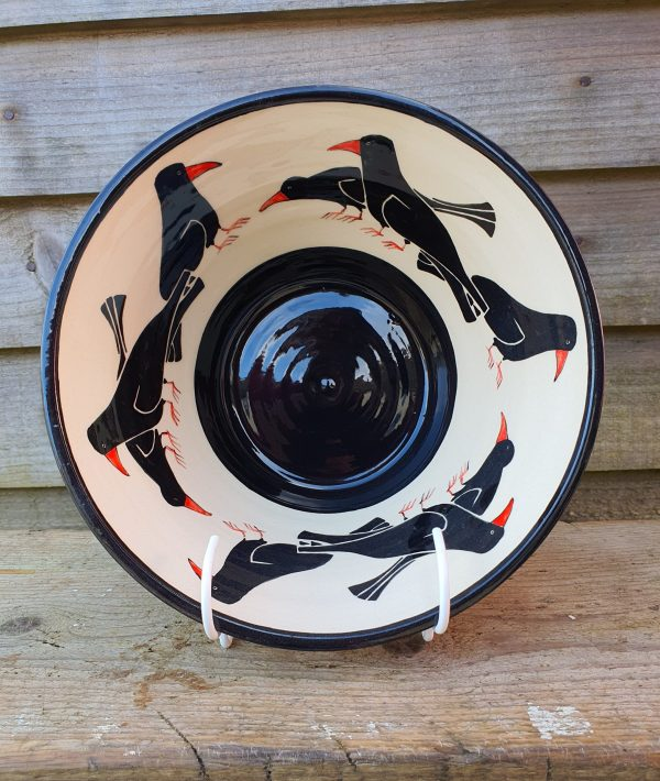 Cornish Chough Bowl - Medium