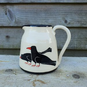 Cornish Chough Milk Jug