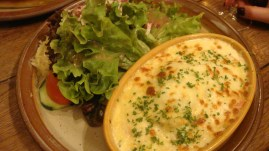 Cheesy ravioli, by Penne Cole