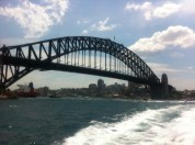 Sydney Harbour Bridge from the ferry, by Penne Cole