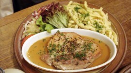 Pork chops with loads of pepper, by Penne Cole